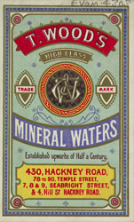 Advert for T Woods, mineral water manufacturer 4303